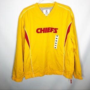NWT Kansas City Chiefs Windbreaker pullover med